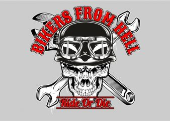 The Biker From The Hell t shirt vector