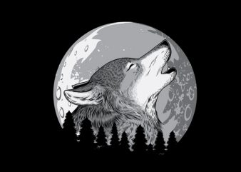 Wolf2 Vector t-shirt design t shirt template