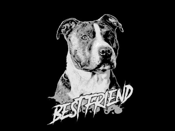 Pitbull Vector t-shirt design