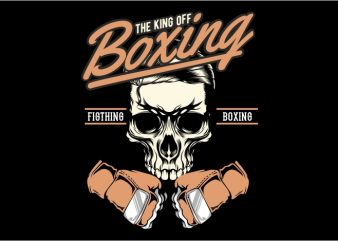 The King of Boxing t shirt designs for sale