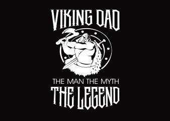 Viking Dad t shirt vector art