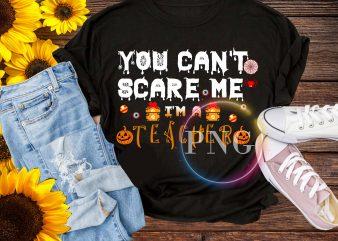You can't scare me i'm a Teacher Pumpking Halloween T shirt