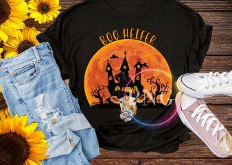 Boo heifer T shirt design PNG