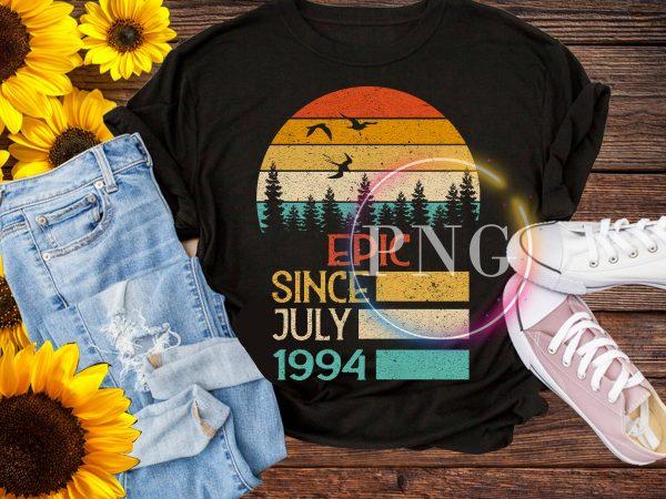 Vintage Birthday design PNG – Epic since July 1994