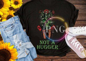 Cactus not a hugger – Cactus Skull hugger T shirt design PNG