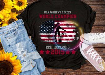 Women Soccer World Cup 2019 – USA Women soccer World Champion 2019 T shirt Design PNG
