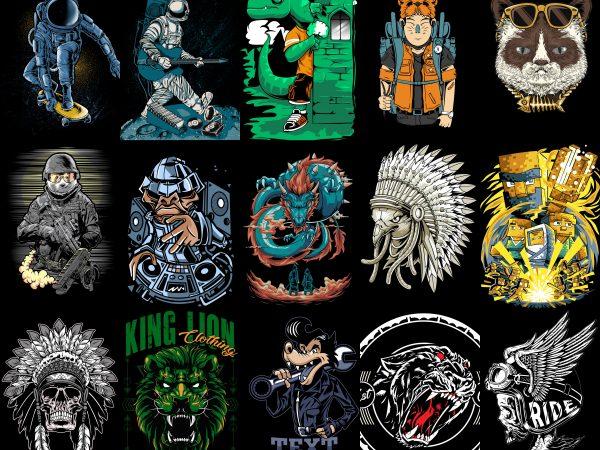 T-Shirts Bundle 25 design Vector T-Shirt and Poster Designs