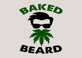 Baked Beard t shirt template