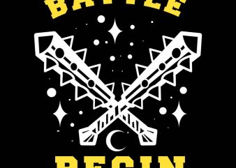 batle begin tshirt design