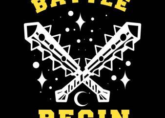 batle begin tshirt design t shirt vector