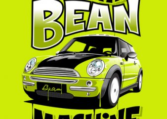BEAN MACHINE t shirt vector