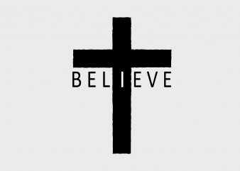 Believe t shirt template