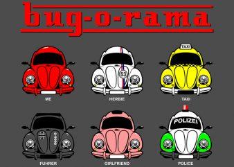 BUG-O-RAMA t shirt template