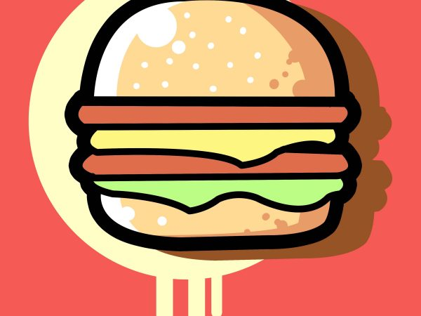 cheese burger t shirt vector file
