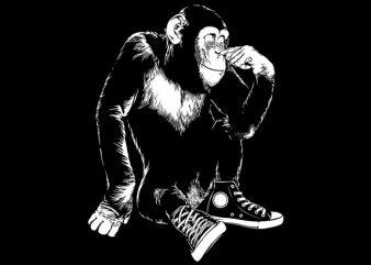 Chimp Sneaker t shirt vector file