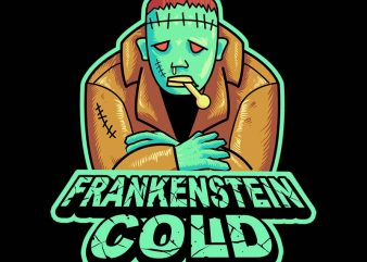 frankenstine cold tshirt design t shirt template