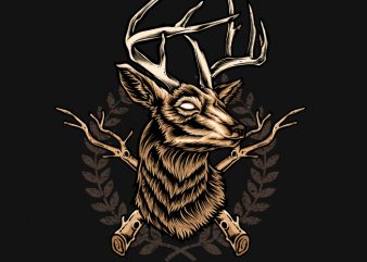 Deer Hunter t shirt template