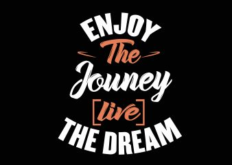Enjoy The Journey vector clipart