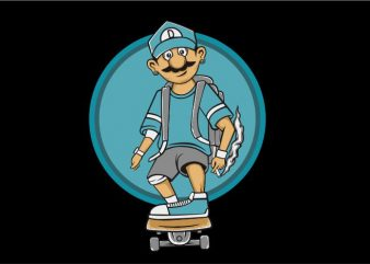 Skate and Smoke t shirt template vector