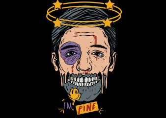 I'm Fine t shirt design for sale
