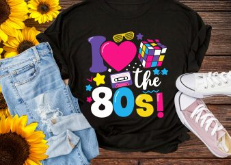 I Love The 80s Vintage Birthday Pop culture 1980 T shirt design gifts birthday 1980