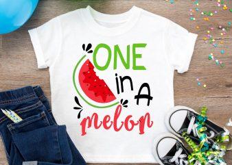 One in a Melon Lover Watermelon Summer Farmer T shirt Design PNG