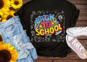 Back to School Design PNG – Preschool Kindergadern Babe Color pens T shirt