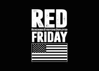 Red Friday t shirt design online