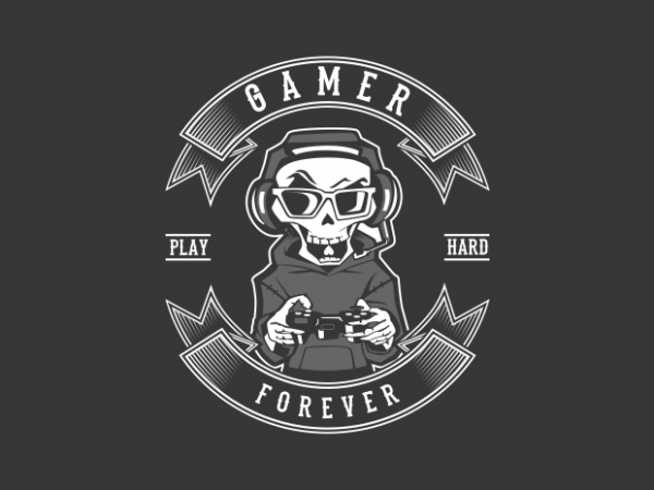 gamer forever t shirt design template