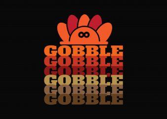 Gobble t shirt design template