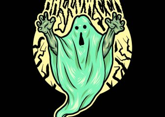 haunted ghost tshirt design