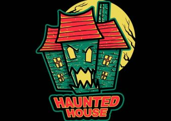 haunted house tshirt design