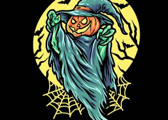 haunted pumkin tshirt design