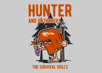 hunter and gatherers graphic t shirt
