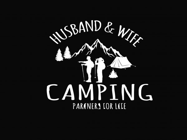Husband & Wife Camping graphic t shirt