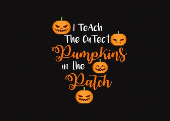 Pumpkins in The Patch t shirt illustration