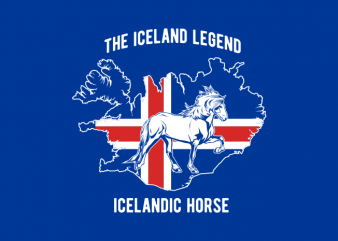 icelandic horse t shirt design for sale