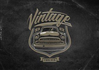 Vintage forever t shirt template