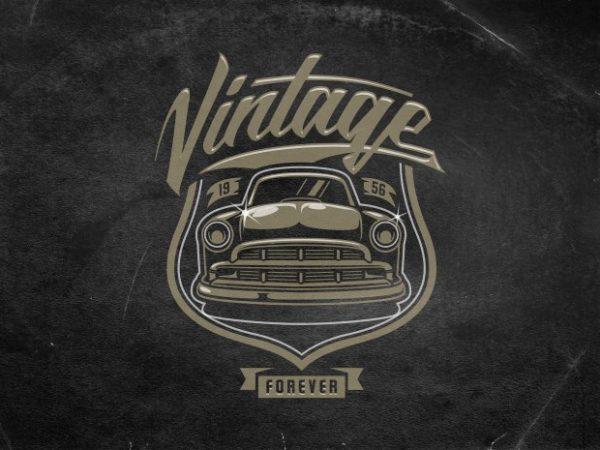 Vintage forever t shirt vector art