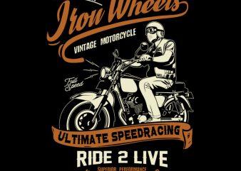 Iron Wheels t shirt vector