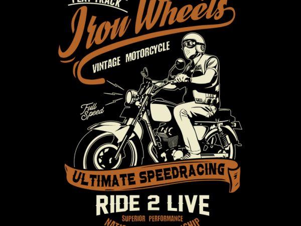 Iron Wheels t shirt design for sale