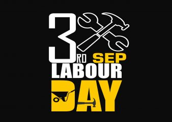 3rd Labour Day t shirt vector