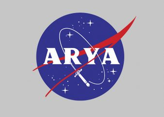 Arya Funny Nasa t shirt template