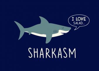 Sharkasm t shirt template vector