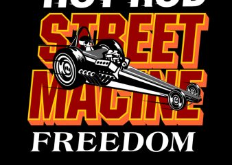 STREET MACHINE t shirt template vector