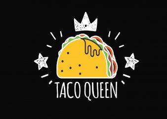 Taco Queen t shirt template