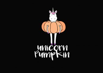 Unicorn Pumpkin t shirt vector graphic