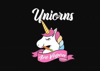 Unicorn Are Vegan t shirt vector graphic