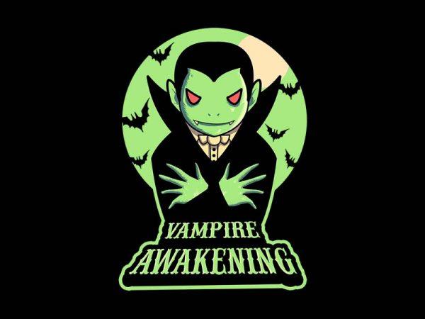 vampire awakening tshirt design