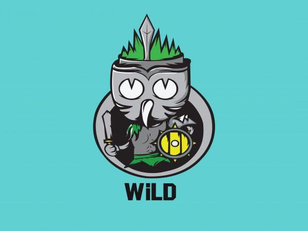 Wild t shirt design for sale